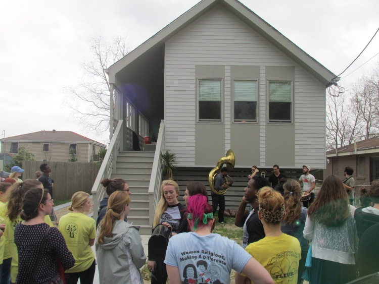 Unveiling celebration of Modern New Orleans Shotgun House by GOATstudio