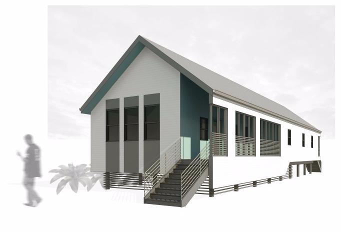 Concept Rendering of Modern New Orleans Shotgun House by GOATstudio