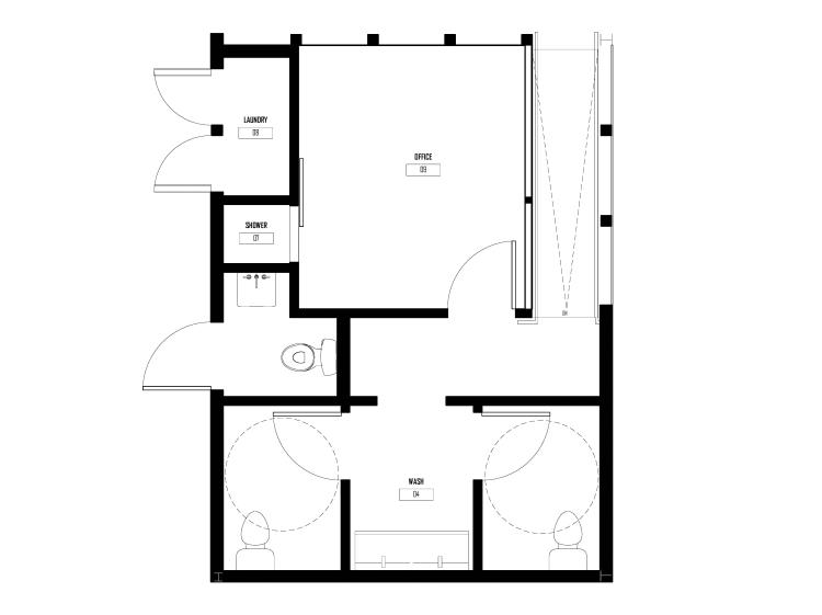 Floor plan for modular office plugin by GOATstudio